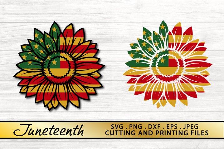 Junteenth SVG PNG DXF EPS BUNDLE Sunflower SVG Vector Files