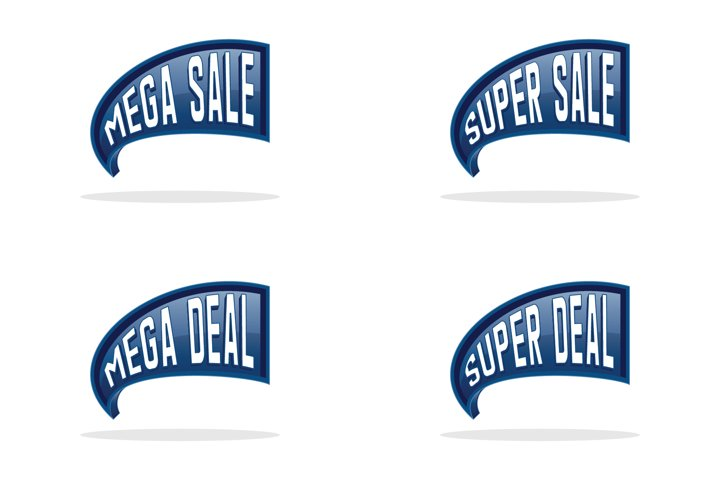 Collection of sales label design