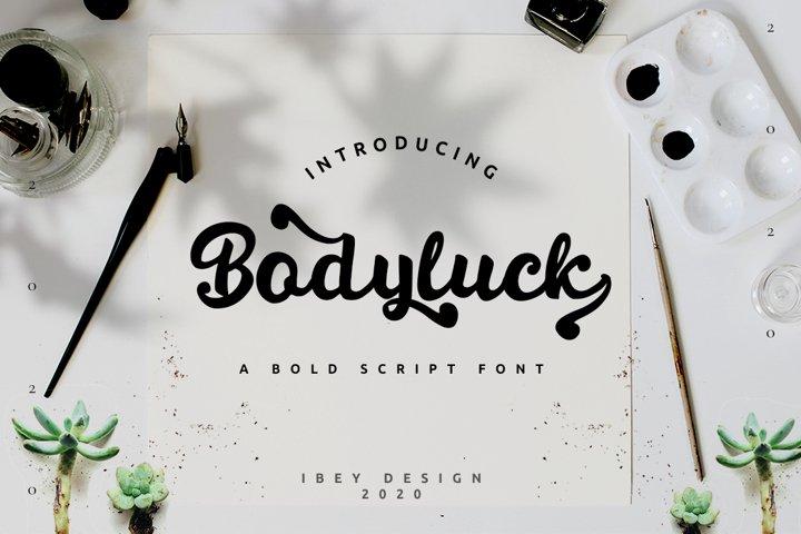 Bodyluck Bold script