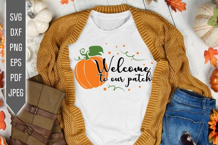 Welcome to our patch Svg. Thanksgiving Pumpkin Design. Fall