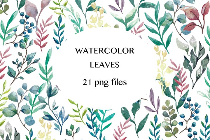 Watercolor Leaves Illustrations