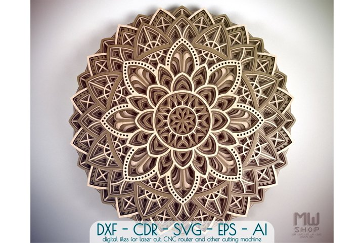 Download M19 Circular Mandala Pattern Layered Mandala Dxf Svg 578827 Laser Engraving Design Bundles