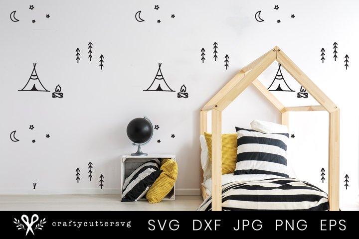 Camping Svg   Camping Illustration Wall Paper Decor Cut File