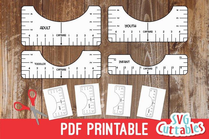 T-shirt Alignment tool   PDF Printable