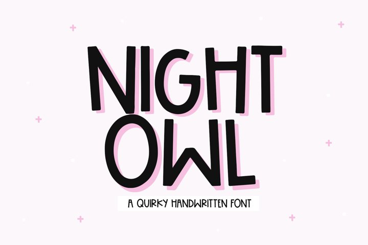 Night Owl - A Handwritten Font