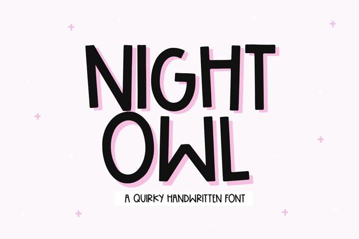 Night Owl - A Handwritten Font