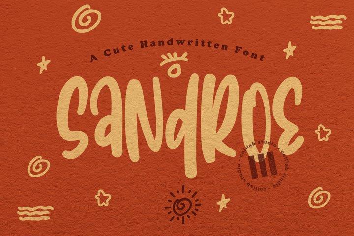 Sandroe - A Cute Handwritten Font