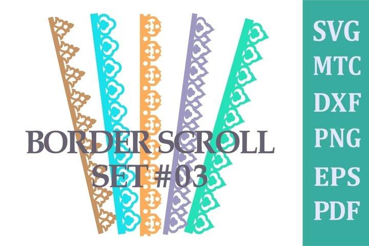 Border Scroll for Scrapbook/Card Making Set #03 SVG File