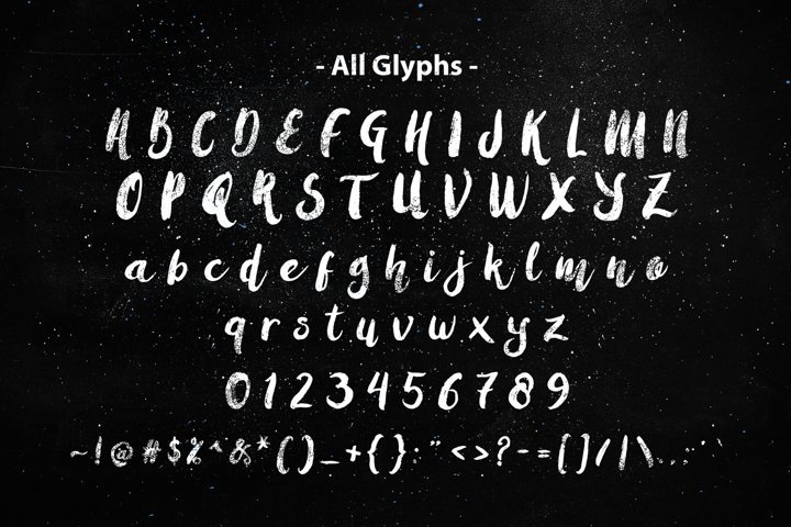 Amulhed Brush - Free Font of The Week Design1