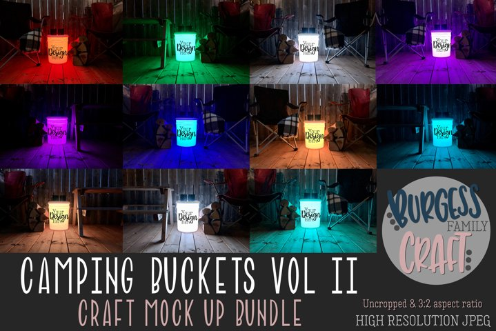 Camping Bucket mock ups Vol II | Craft mock up Bundle