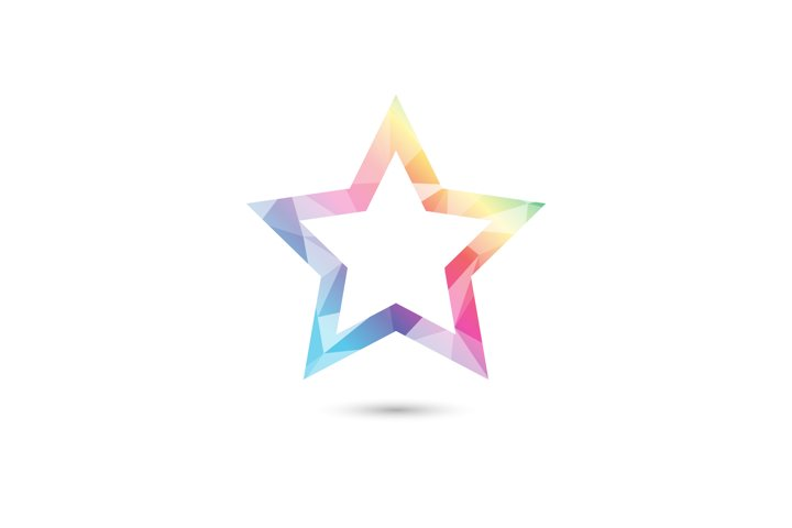 Low poly star gradient