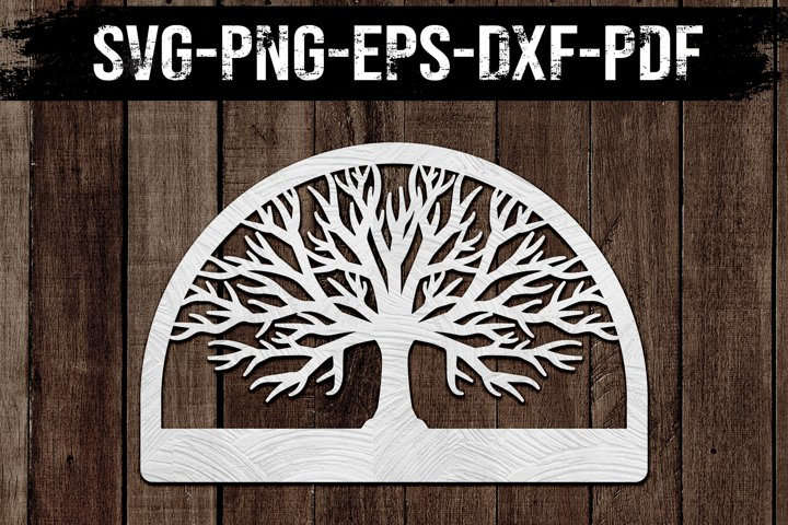 Customizable Family Tree, Paper Cut Template, SVG, DXF
