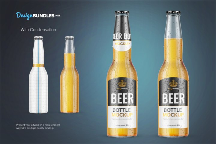 Beer Bottle Mockups example 2