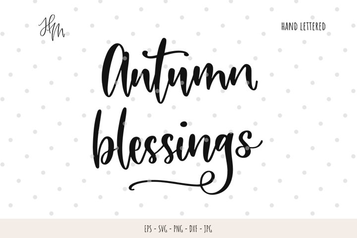 Autumn blessings cut file SVG DXF EPS PNG JP