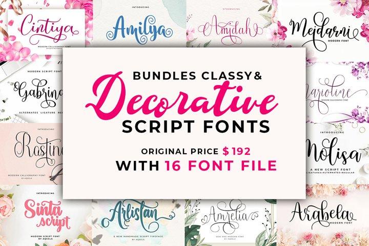 Bundles Classy & Decorative Script Fonts