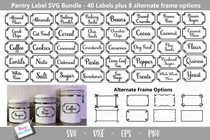 Pantry Labels SVG Bundle - 40 Kitchen Labels