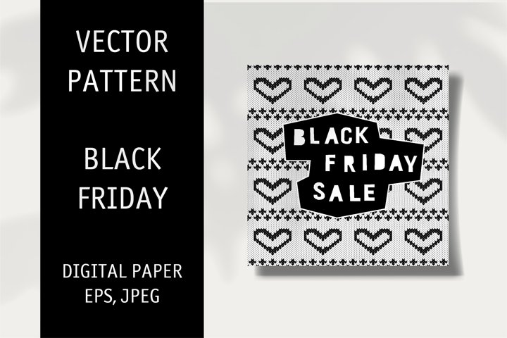 Black Friday Typography. Black Friday Print. Vector Pattern.