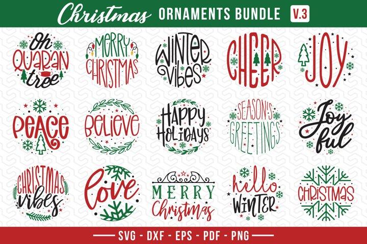 Christmas Ornament Bundle Vol.3, Christmas Ornaments SVG