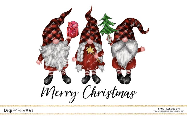 Christmas Gnomes PNG, ready to print Sublimation Design