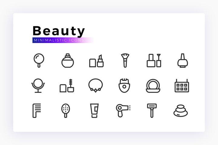 Beauty & Care Minimalistic SVG Icon Set