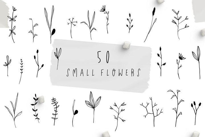 SMALL FLOWERS SET