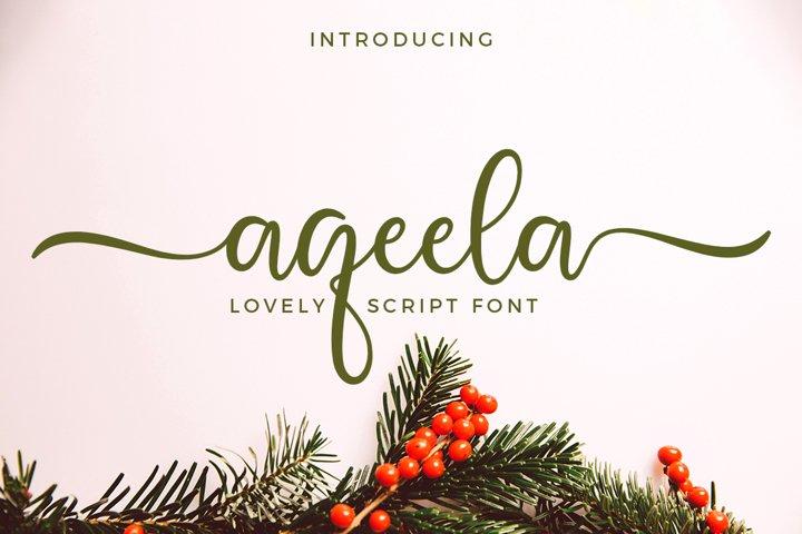 Aqeela Lovely Script Font