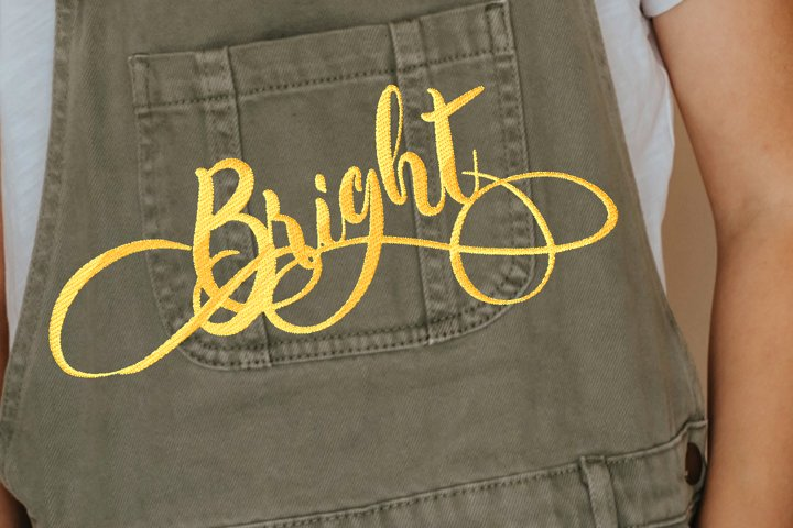 Bright Embroidery Design