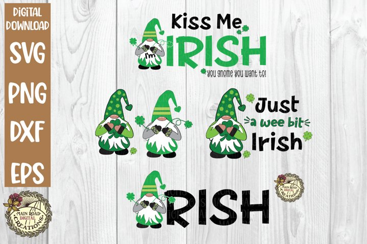 Gnomes SVG Bundle-Irish-St Patricks Day Gnomes-Kiss Me