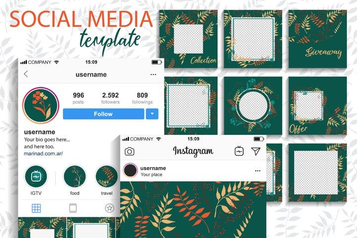 Social Media Template. Wildflower