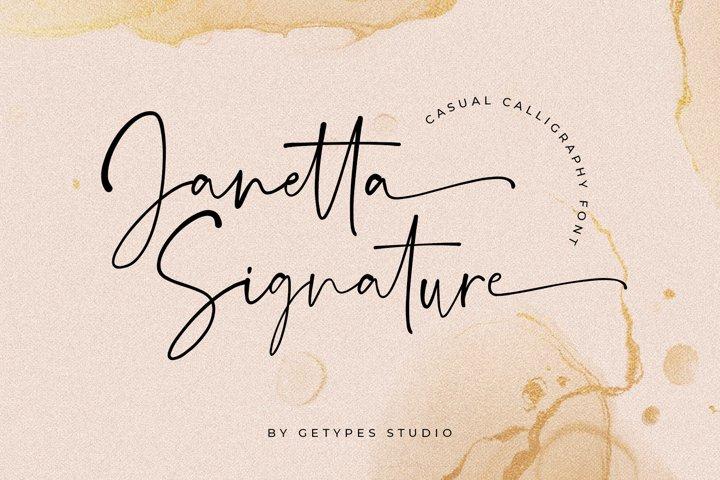 Janetta Signature | New Organic Font