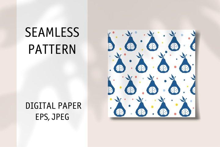 Seamless pattern. Digital downloadable editable vector print