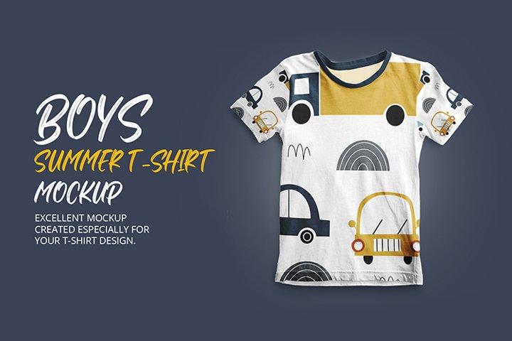 Boys Summer T-Shirt Mockup