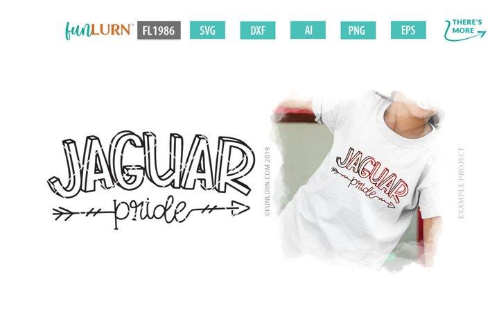 Jaguar Pride Team SVG Cut File