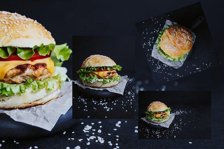 Appetizing fresh homemade burger