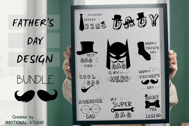 Fathers day SVG bundle, Cut file Ai PNG DXF EPS PDF,