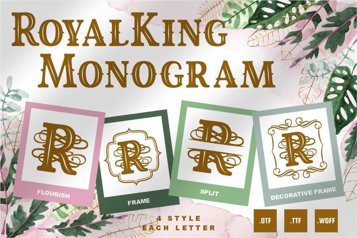 Royalking Monogram Font - 4 Style Monogram