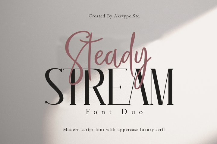 Steady Stream Font Duo
