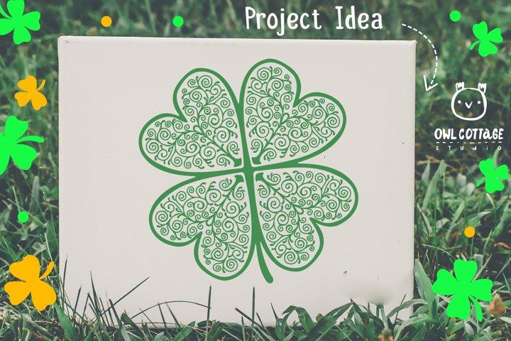 St. Patricks day svg, Clover Leaf, Clover Leaf Tattoo example 6