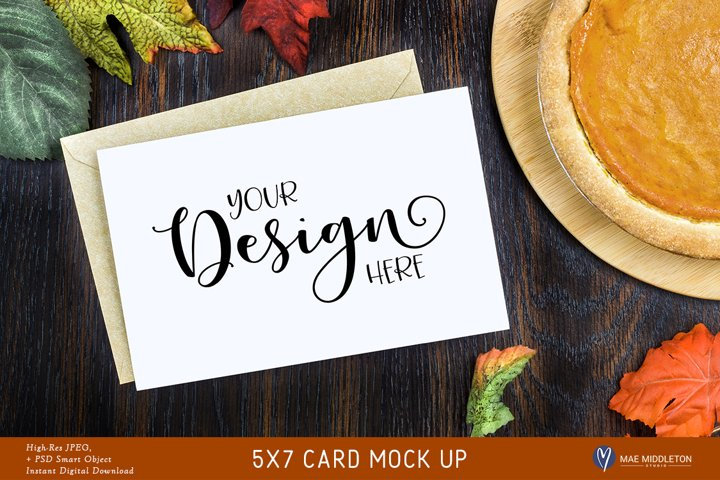 Greeting Card Mock up for Thanksgiving