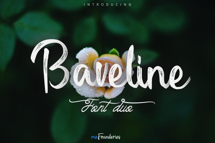 Baveline font duo