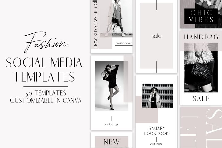 Fashion Instagram Templates for Canva