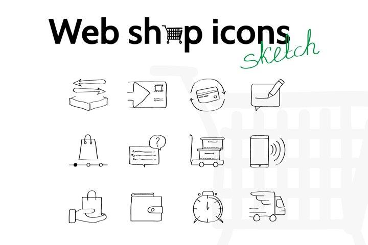 Web shop icons pack