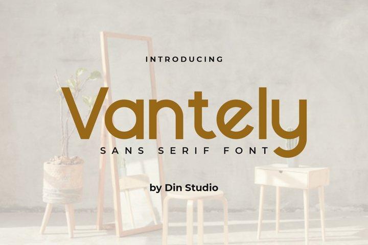 Vantely-Elegant Sans Serif Font