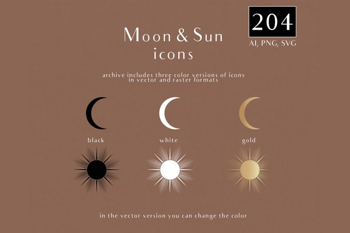 Moon and Sun icons