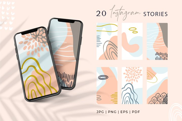 Instagram Story template, Abstract Modern Background JPG