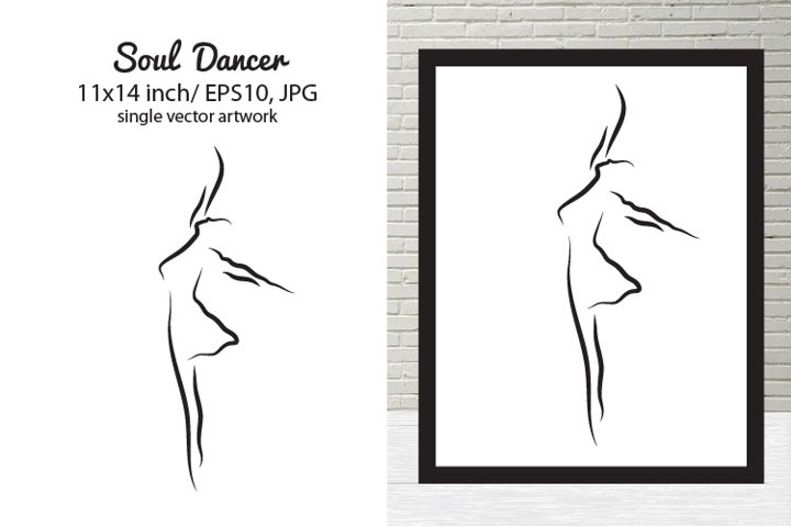 SOUL DANCER - single vector artwork
