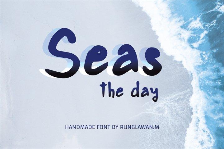 seas the day - A cute handwritten font