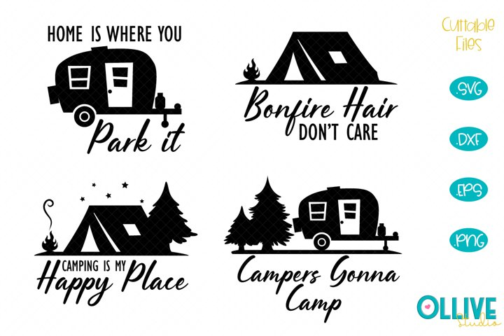 Camping Camper Quotes SVG Bundle