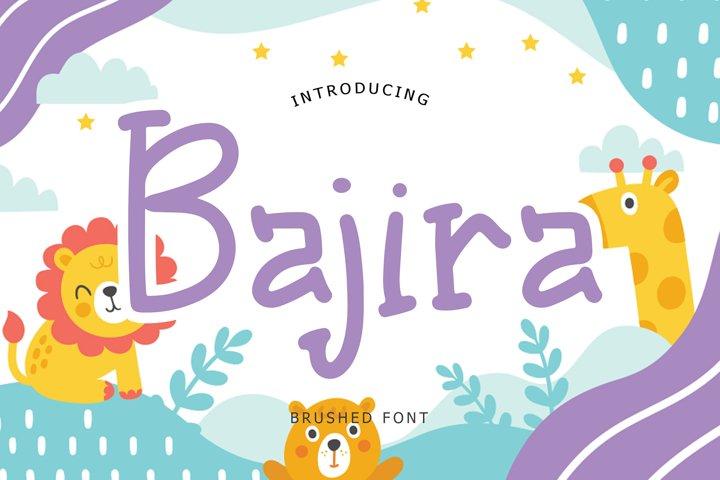 Bajira Brush Font