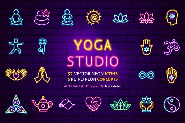 Yoga Meditation Neon